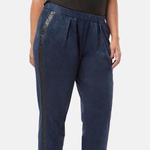 NEW MYNT Faux Suede Pegged Pleat Tuxedo Pants 20W